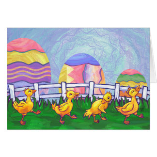 Ducks in a Row Easter Card