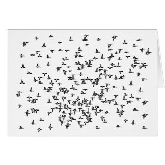 Ducks in Flight - Duck Hunting Art Card
