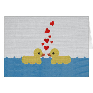 Ducks In Love Blank Greeting Card