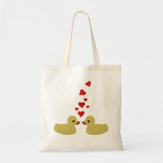 Ducks in Love Tote Bag