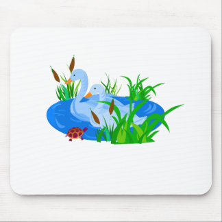 Ducks in water mouse pad