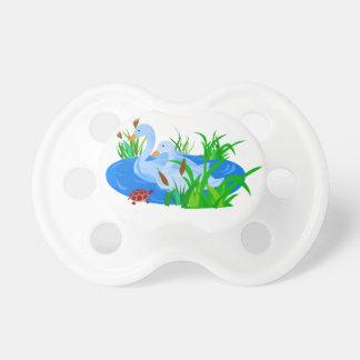 Ducks in water pacifier