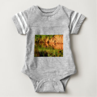 DUCKS IN WATER QUEENSLAND AUSTRALIA BABY BODYSUIT