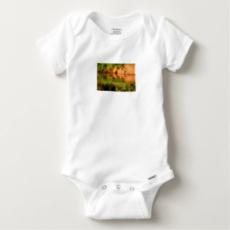 DUCKS IN WATER QUEENSLAND AUSTRALIA BABY ONESIE