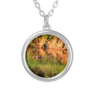 DUCKS IN WATER QUEENSLAND AUSTRALIA SILVER PLATED NECKLACE