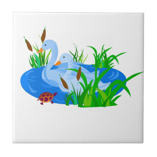 Ducks in water tile