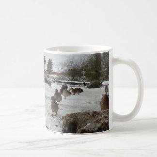 Ducks in Winter Basic White Mug