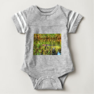 DUCKS IN WTAER AUSTRALIA ART EFFECTS BABY BODYSUIT