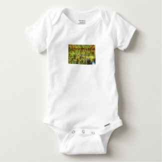 DUCKS IN WTAER AUSTRALIA ART EFFECTS BABY ONESIE