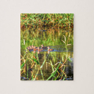 DUCKS IN WTAER AUSTRALIA ART EFFECTS JIGSAW PUZZLE