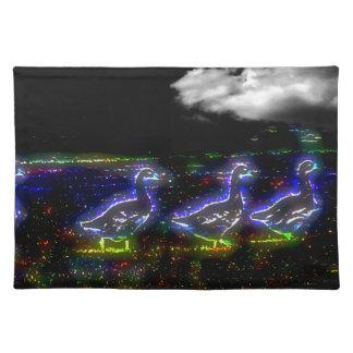 Ducks Night Walking Placemat