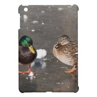 """ducks on black ice"" cover for the iPad mini"