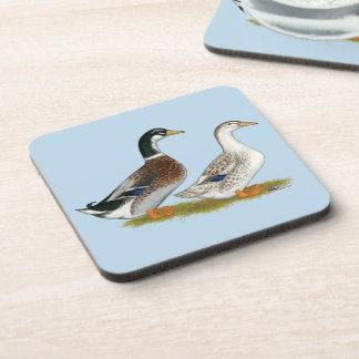 Ducks:  Silver Appleyard Coaster