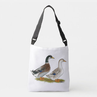 Ducks:  Silver Appleyard Crossbody Bag