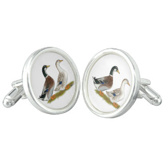 Ducks:  Silver Appleyard Cufflinks