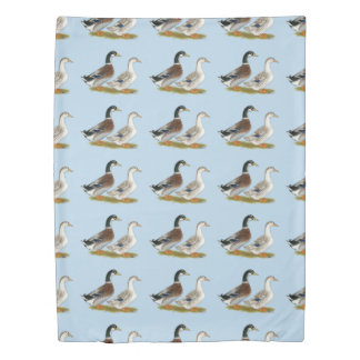 Ducks:  Silver Appleyard Duvet Cover