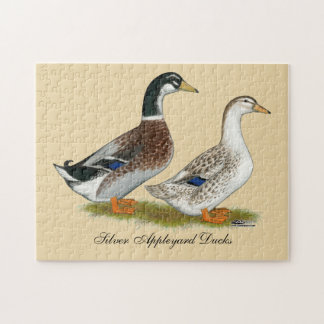 Ducks:  Silver Appleyard Jigsaw Puzzle