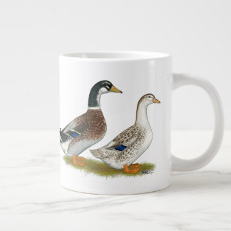 Ducks:  Silver Appleyard Large Coffee Mug