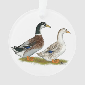 Ducks:  Silver Appleyard Ornament