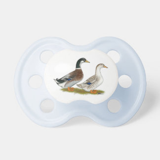 Ducks:  Silver Appleyard Pacifier
