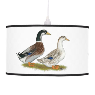 Ducks:  Silver Appleyard Pendant Lamp