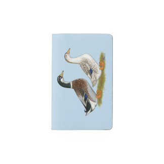 Ducks:  Silver Appleyard Pocket Moleskine Notebook
