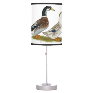 Ducks:  Silver Appleyard Table Lamp