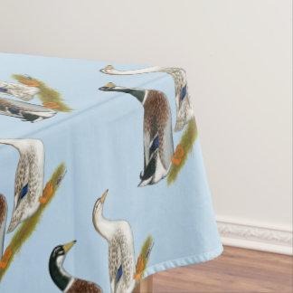 Ducks:  Silver Appleyard Tablecloth