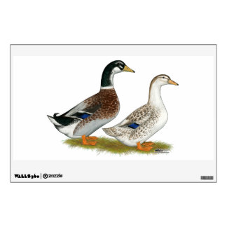 Ducks:  Silver Appleyard Wall Sticker