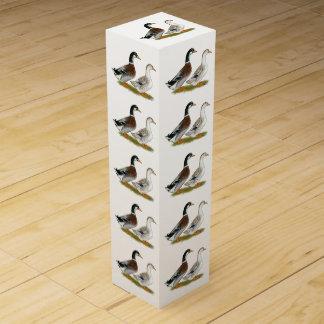 Ducks:  Silver Appleyard Wine Gift Box