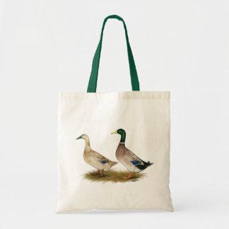 Ducks:  Silver Welsh Harlequin Tote Bag