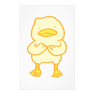 """Ducky 5.5"""" x 8.5"""" paper personalized stationery"""