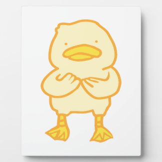 Ducky 8x10 With Easel For a professional display Plaque