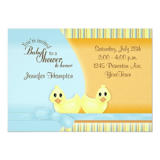 Ducky Baby Shower Invitation