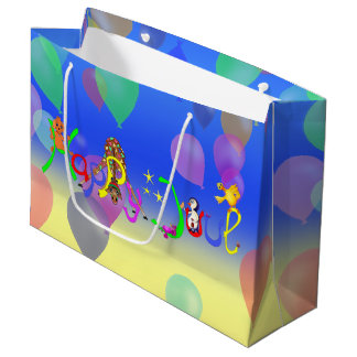 Ducky Balloon Flying by The Happy Juul Company Large Gift Bag