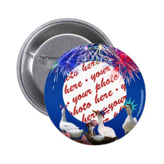 Ducky Celebration for the 4th of July Frame 2 Inch Round Button