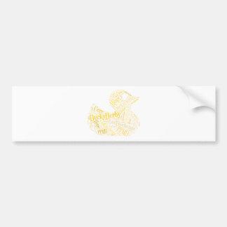 Ducky Derby Bumper Sticker