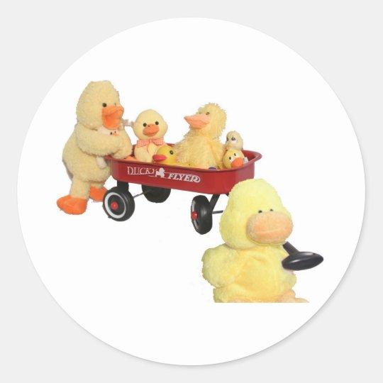 Ducky Flyer Classic Round Sticker