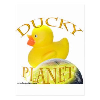 Ducky Planet Logo Postcard