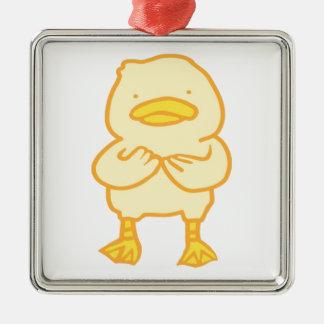 Ducky Premium Square Ornament