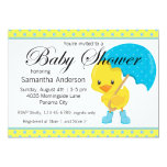 "Ducky with Umbrella Baby Shower 5"" X 7"" Invitation Card"