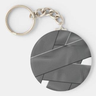 Duct Tape Basic Round Button Keychain