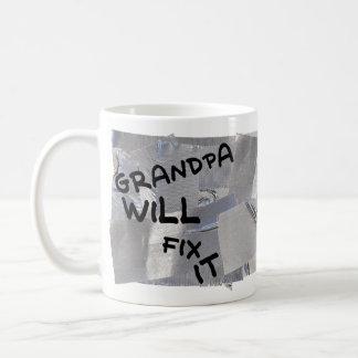 Duct Tape Coffee Mug - Grandpa Will Fix It