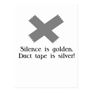 Duct Tape Funny Design Postcard
