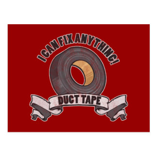 Duct Tape, I can Fix anything Postcard