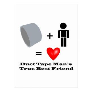 Duct Tape Man s Best Friend Handyman Humor Postcard