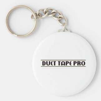Duct Tape Pro Basic Round Button Keychain