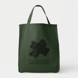 duct tape - silence is golden duct tape is silver bag