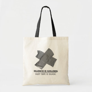 duct tape - silence is golden duct tape is silver canvas bag