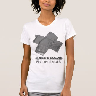 duct tape - silence is golden duct tape is silver tee shirt